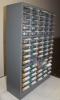 Шкафчик металлический (для пуговиц) Темно-серый